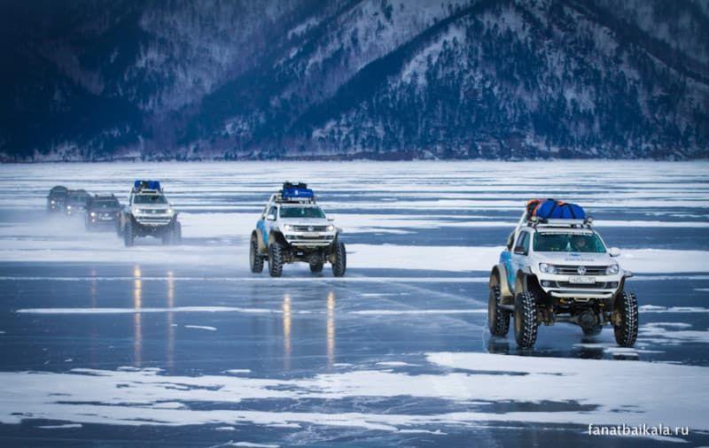 по льду на автомобилях