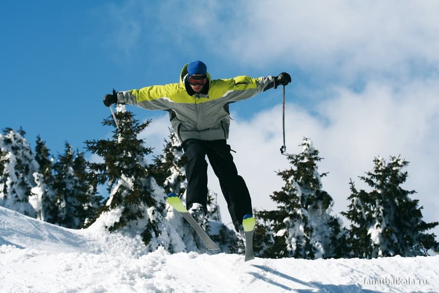 горные лыжи на байкале