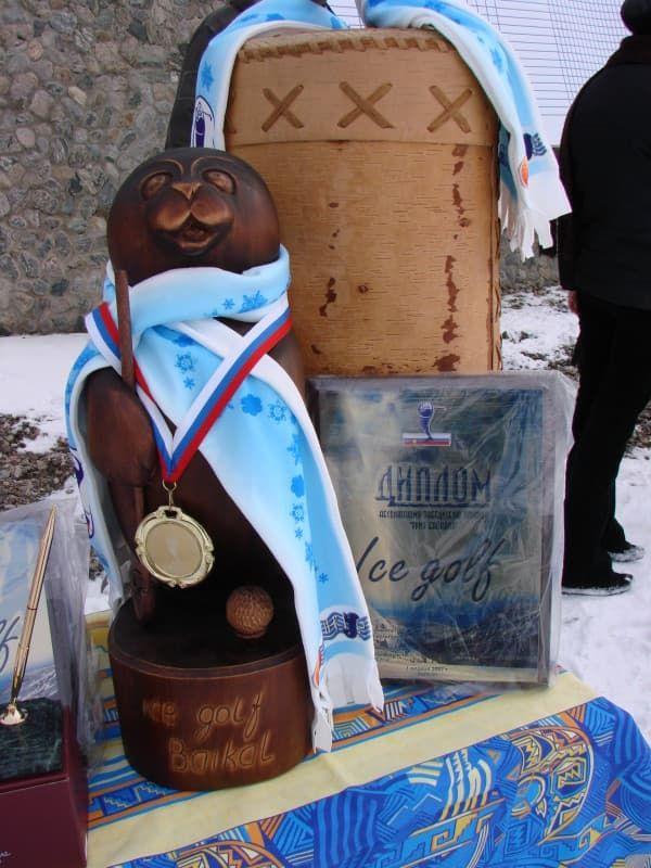 турнир по ледовому гольфу на Байкале