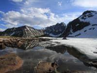 горные озера подъем на перевал вдоль реки Улзыха