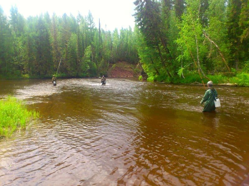 рыбалка на реке Лена