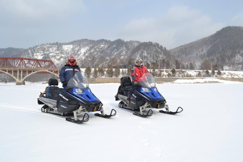 туры на снегоходах, байкал