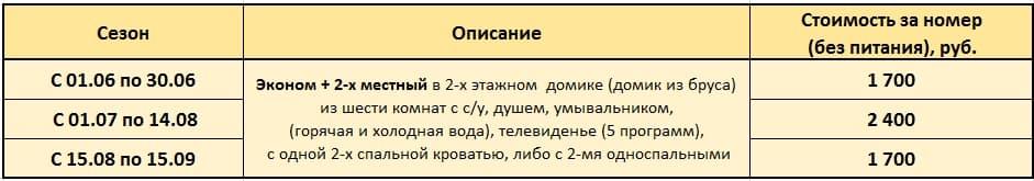 отдых Байкал цены