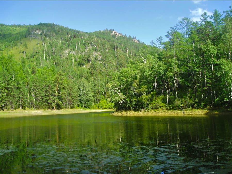 Сухое озеро в Большом Голоустном