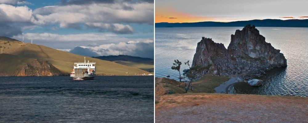 Переправа на остров Ольхон, мыс Бурхан