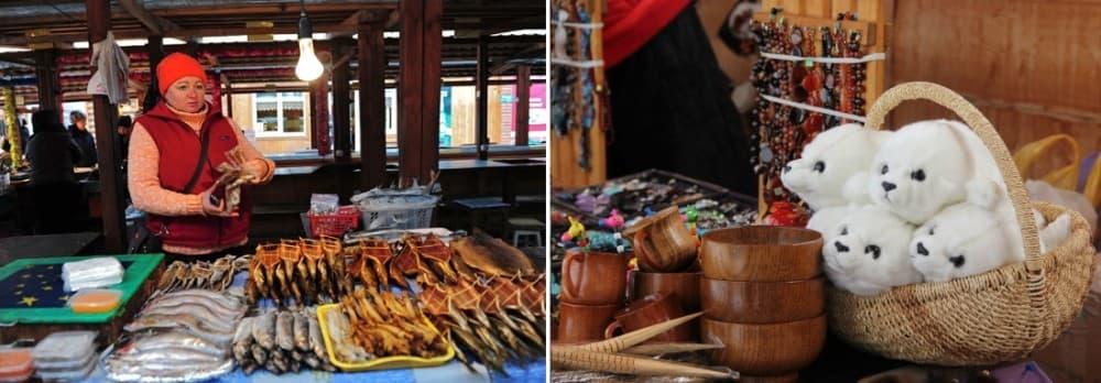 Рыбный рынок в Листвянке, Байкальские сувениры