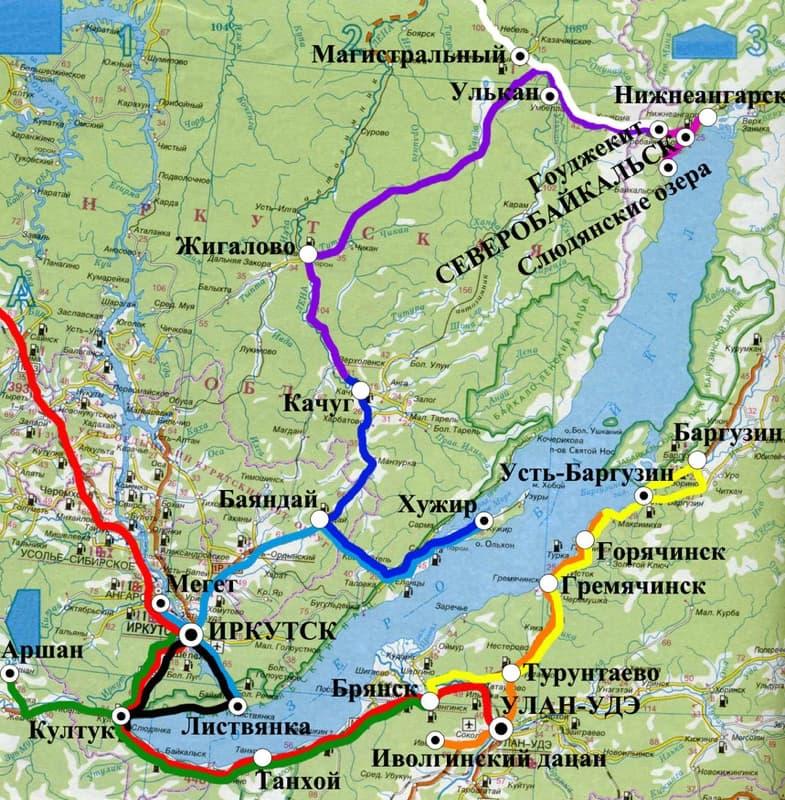 маршруты по байкалу