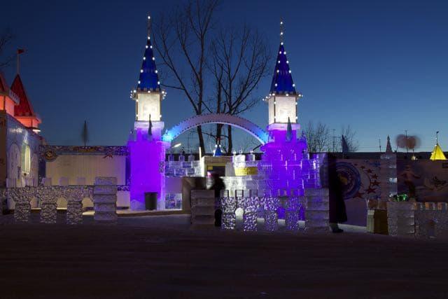 Ледовый городок в Иркутске
