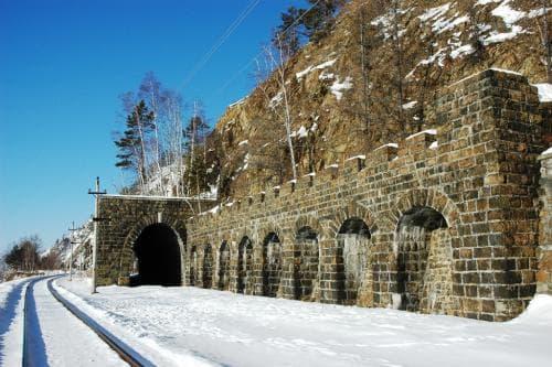 Кругобайкальская железная дорога - золотая пряжка России