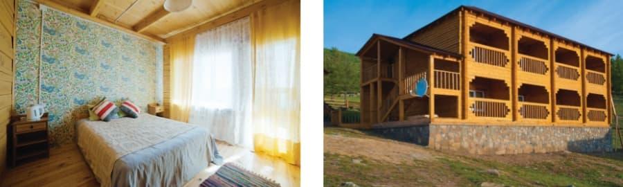 Номер 2-х местный благоустроенный с видом на озеро Байкал  (база отдыха Алтан)