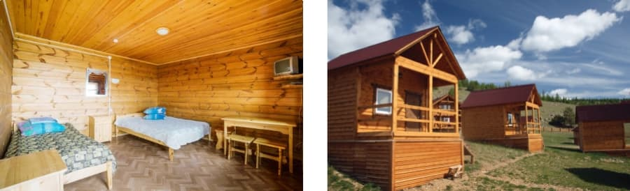 Стандартный дом 3-х местный с видом на озеро Байкал (база отдыха Алтан)