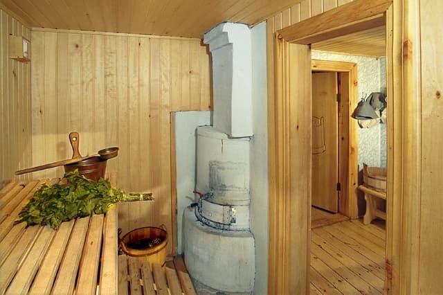 Русская баня У озера в Листвянке. Парная
