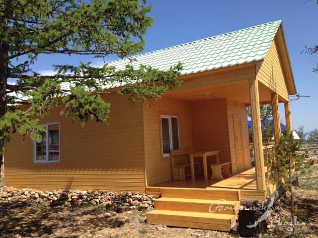 База отдыха Байкальская сказка, Благоустроенный 4х-местный дом с кухней