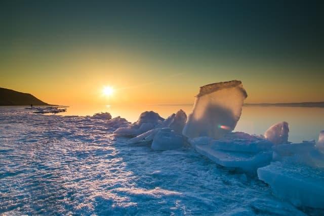 Встреча рассвета на Байкале