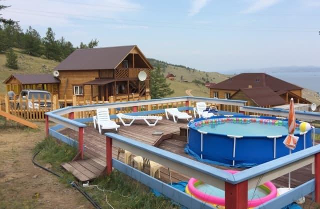 База отдыха на Байкале Родные берега, летний детский бассейн