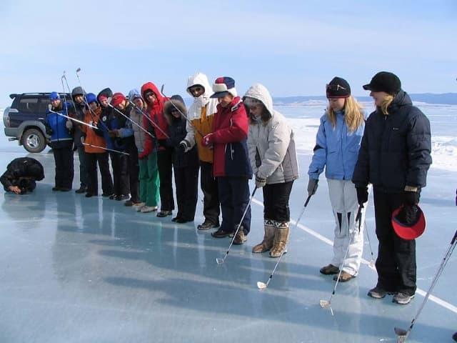 Ледовый голь на Байкале