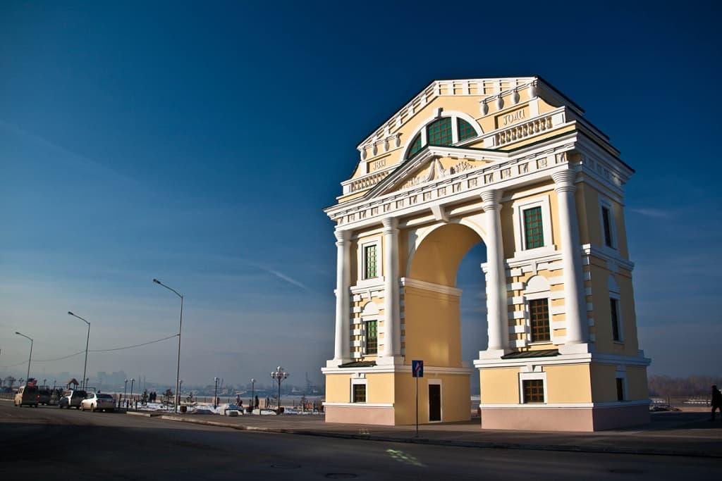 Московские ворота в Иркутске