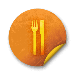 057876-orange-grunge-sticker-icon-food-beverage-knife-fork