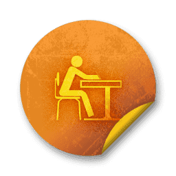 064714-orange-grunge-sticker-icon-people-things-people-student-study